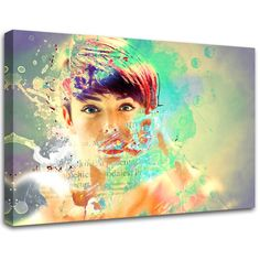Modern painting Abstract Girl abstract art  canvas by MagnifiKo