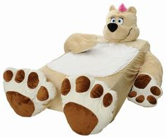 Incredibeds Teddy Bear Bed Cover, Twin, Beige