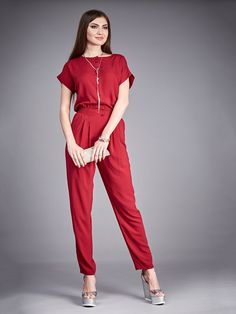 db67addb14e Marsala Jumpsuit Summer.Cotton Jumpsuit by FashionDress8 on Etsy Cotton  Jumpsuit