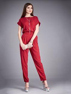 34c1d644dc3 Marsala Jumpsuit Summer.Cotton Jumpsuit by FashionDress8 on Etsy Cotton  Jumpsuit