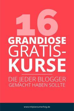 16 grandiose gratis-Kurse, die jeder Blogger gemacht haben muss Business Marketing, Content Marketing, Online Marketing, Online Business, Employer Branding, Business Inspiration, Pinterest Marketing, How To Start A Blog, Social Media
