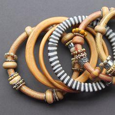 polymer clay bangles - Kim Otterbein Design