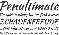 Kaushan Script Alphabet PhrasesPortfloio title font