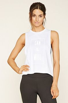 Active Can Graphic Muscle Tee