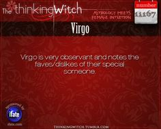 #Virgo are analytical by nature so it makes sense they would note this. Not in a bad way either. If a #Virgo accepts your flaws that is a very good sign consider how picky they tend to be.