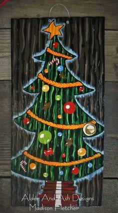 Nightmare Before Christmas Inspired/ Christmas Tree Door, Christmas Decor, Door Hanger, Front Door Decor, Winter Decor,Home & Living, Wreath