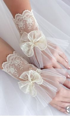 Wedding gloves , lace cuffs – shop online on Livemaster with shipping handschuhe braut spitze handschuhe elegante handschuhe abendhandschuhe hochzeitshandschuhe Lace Cuffs, Lace Gloves, Lace Bows, Fingerless Gloves, Bridal Accessories, Fashion Accessories, Elegant Gloves, Gloves Fashion, Wedding Gloves