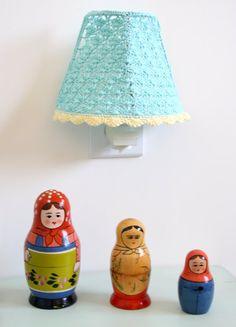 Crochet Lampshade / Night Light Crochet Lampshade by babytogo