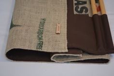 Hessian Log Carrier / Firewood Tote.  Handcrafted by JuteAlors