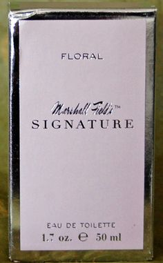 Floral Marshall Field's Signature