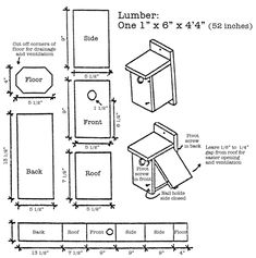 ideas about Bluebird House Plans on Pinterest   Bluebird    plans for bird boxes