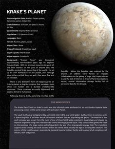 Planets, planets, and more planets - Page 8 - Star Wars: Edge of the Empire RPG - FFG Community Planet System, Star Wars History, Starwars, Space Solar System, Edge Of The Empire, Star Wars Rpg, Star Trek, Planets And Moons, Star Wars Vehicles