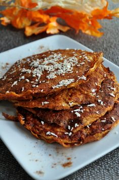 Paleo Wild Orange Pumpkin Spice Pancakes with Muscle Egg Liquid Egg Whites