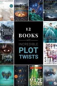 Dystopian books Dystopian fiction books Dystopian books series Distopian books Books Book club books - 12 Books with Incredible Plot Twists Click through for the whole list! Fantasy Books To Read, Best Books To Read, Ya Books, Book Club Books, Book Lists, Good Books, Best Fantasy Book Series, Book Art, Sci Fi Books