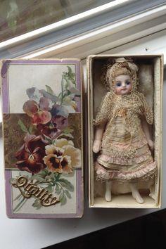 All-bisque Mignonette Antique doll