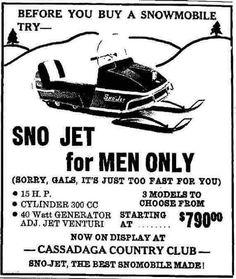 Vintage Snowmobile ad for Ariens Snowmobiles #