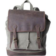 Kelly Moore Bag Pilot Backpack (Sand Canvas/Brown Trim)