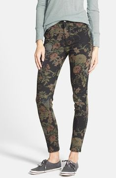 Free shipping and returns on Fire Print High Rise Skinny Jeans (Juniors) at Nordstrom.com. Victorian flowers bloom over stretch-kissed skinny jeans that meld a modern skinny fit with a totally on-trend high waist.