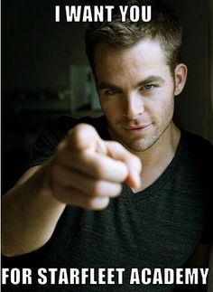 Captain James T. Kirk - Star Trek. Hotness or Geekery board.  Both!