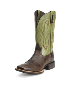 Ariat Men's Quantum Brander Boot - Thunder Brown / Spring Green  http://www.countryoutfitter.com/products/52205-mens-quantum-brander-boot-thunder-brown-spring-green