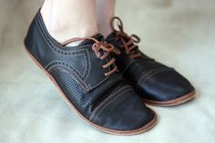 Black and Brown Chaplin Shoes  Leather by TheDrifterLeather