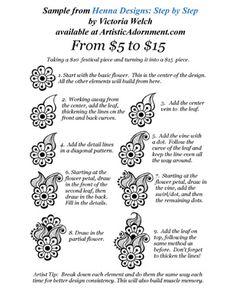 Free Patterns : Artistic Adornment, Henna Supplies - henna tattoo kits, henna powder, professional mehndi supplies