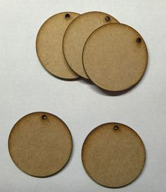 1,95+7,77 5pc wooden 3 mm mdf circle with hole 50mm and 75mm craft blank