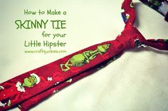 How to Make a Skinny Tie for your Little Hipster from Craft Quickies - Toddler and Baby Skinny Tie Tutorial
