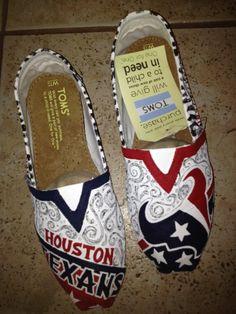 Houston Texans by solespirit on Etsy, $110.00  I SOOO WANT THESE!!!