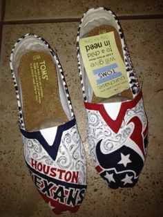 Houston Texans by solespirit on Etsy, $110.00 I SOOO WANT THESE!!!