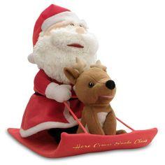 Santa & Reindeer Duet Singing Plush