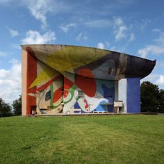 Le Corbusier's seminal Chapel of Notre Dame du Haut becomes a huge canvas for graffiti in these fictional images
