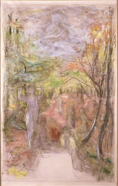 L'Allée, a study for Pax Musarum Nutrix (Peace Protecting the Muses), 1937, Edouard Vuillard. French Navi Painter (1868 - 1940) - Pastel and Charcoal on Paper -