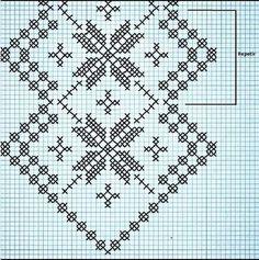 Crochet Table Runner, Straight Stitch, Chrochet, Filet Crochet, Table Runners, Needlework, Cross Stitch, Embroidery, Pattern