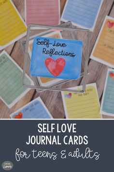 Self Love Printable Journal Cards Love Journal, Journal Cards, Increase Confidence, Writing Lines, Meaningful Conversations, Positive Mindset, Bullet Journals, Smash Book, Inner Peace