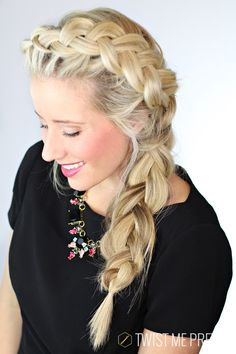 Pretty much the prettiest braid on the planet. Super easy tutorial from Twist Me Pretty #hair #hairstyles #braids