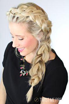 Pretty much the prettiest braid on the planet. Super easy tutorial from Twist Me Pretty #hair #hairstyles #braids