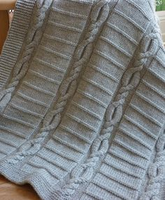 Knitting Pattern for Cable Baby Blanket - Lucas Baby Blanket by Le Petit Mouton. #ad More pics and info on Etsy http://www.awin1.com/cread.php?awinaffid=234273&awinmid=6220&p=https%3A%2F%2Fwww.etsy.com%2Flisting%2F228940097%2Fknit-baby-blanket-pattern-baby-blanket%3Fref%3Dshop_home_active_12 tba