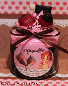 Look and smell like the real thing! But, not edible. Bummer :(    Dessert Candles from SugarvilleCandles.etsy.com