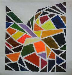 """NIKOS LAMPRINOS (grieks) ; Acrylic, 2012, Painting """"''untitled''"""""""