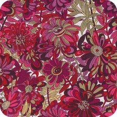 Liberty Willow rose framboise/grenat