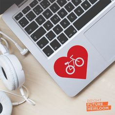 Bike Love - Cut Vinyl Decal - Perfect for laptops tablets cars trucks and more! by BrightFutureHeirloom