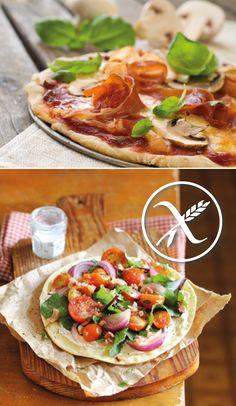 #receta masa de pizza casera #singluten Pizza Sin Gluten, Paleo Pizza, Pizza Recipes, Veggie Recipes, Healthy Recipes, Foods With Gluten, Gluten Free Desserts, Gluten Free Recipes, Comida Pizza