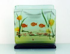 fused glass mobile phone stand  Sea View by virtulyglass on Etsy, $25.00