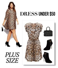 """Plus-Size dress under 50.00"" by im-karla-with-a-k on Polyvore featuring Ted Baker, Topshop and Dressunder50"
