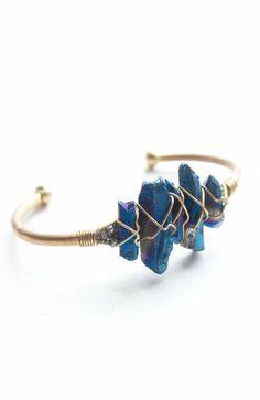 Blue Crystal Wire Cuff ♥