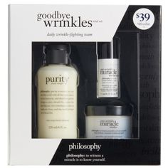 Women's Philosophy Goodbye Wrinkles Set (530.905 IDR) ❤ liked on Polyvore featuring beauty products, skincare, face care, no color, philosophy skin care, philosophy skincare, anti aging skin care, anti aging skincare and antiaging skin care