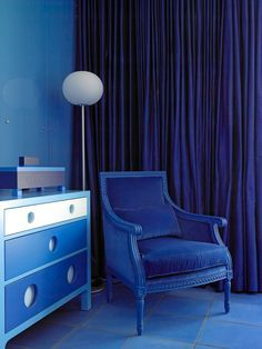 Monochromatic Living Room, Monochromatic Color Scheme, Monochrome Color, Monochrome Interior, Interior Design, Eclectic Design, Interior Doors, Blue Rooms, Blue Bedroom