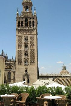 Seville Photos at Frommer's - A view of La Giralda from the rooftop terrace at Hotel Doña Maria in Seville, Spain.