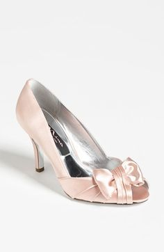 Nina 'Forbes' Peep Toe Pump available at #Nordstrom this is a satin pump